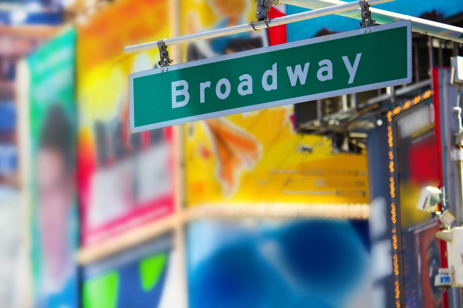 Broadway en Nueva York cerrado